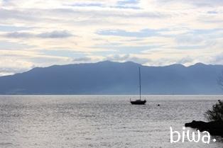 穏やかな琵琶湖