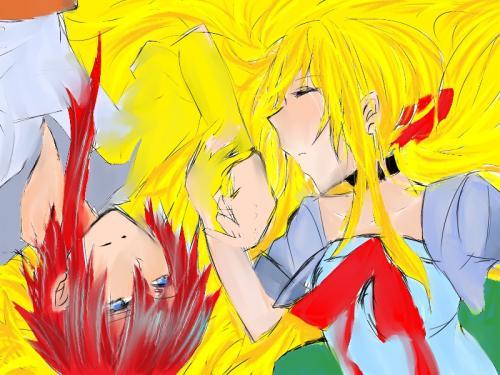 黄色×赤 縮小