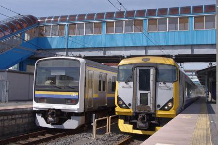 209系 E257系 安房鴨川駅