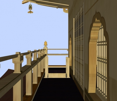 金閣三階階段出口