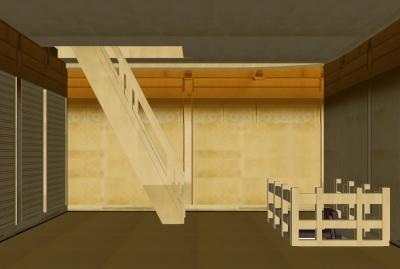 金閣二階の階段