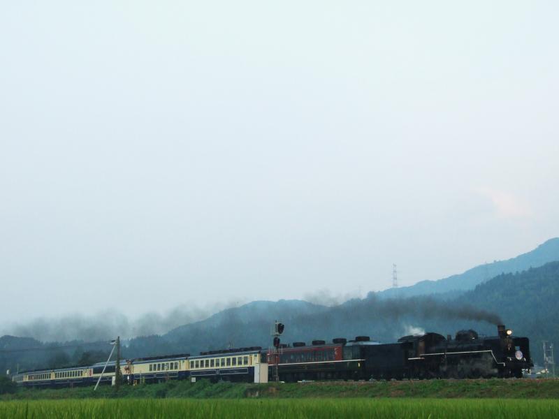 2013/08/11 磐越西線(馬下-猿和田)馬下踏切付近
