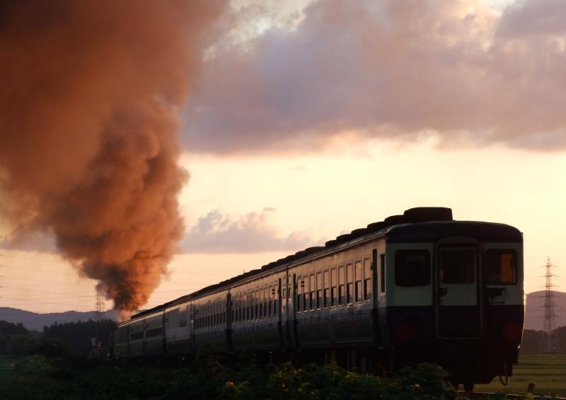2013/08/29 磐越西線(馬下-猿和田)馬下踏切