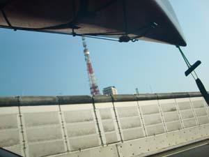 東京タワーとカヤック