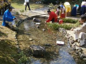 「曲水の宴」風景