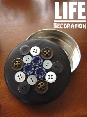 小さい缶+ボタン