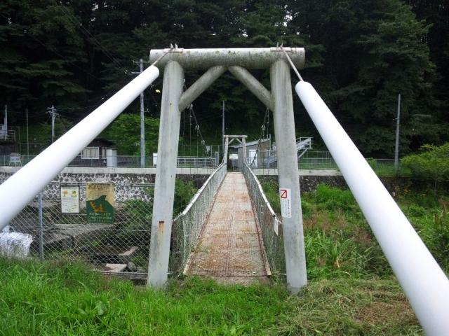 福沢ダムの吊橋