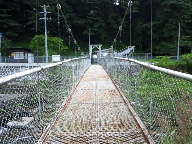 福沢ダムの吊橋 (4)
