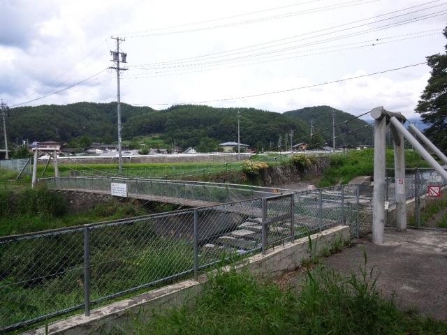 福沢ダムの吊橋 (5)