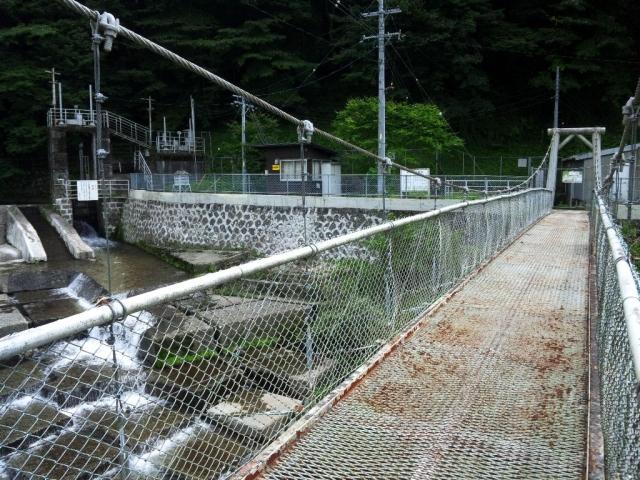 福沢ダムの吊橋 (6)