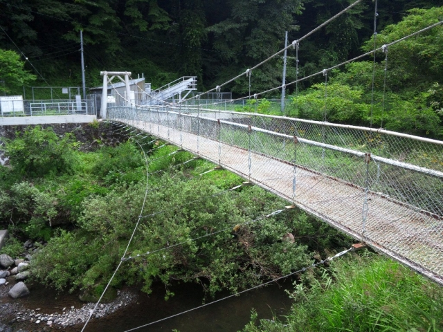 福沢ダムの吊橋 (7)