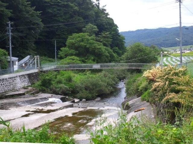 福沢ダムの吊橋 (8)