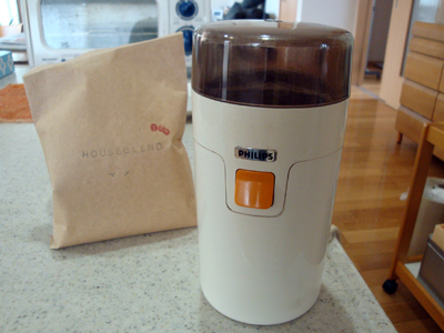我が家の電動コーヒーミル