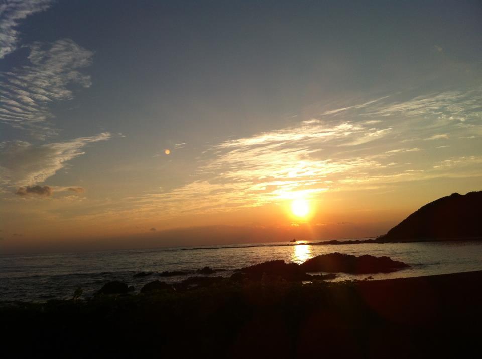 串本の夕日