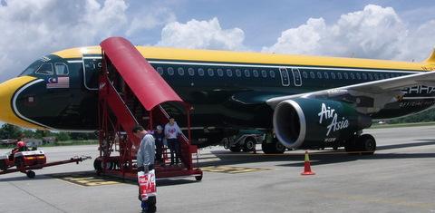 AirAsia機体のカラー