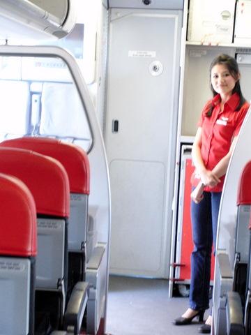 AirAsia国内線スチュワーデス