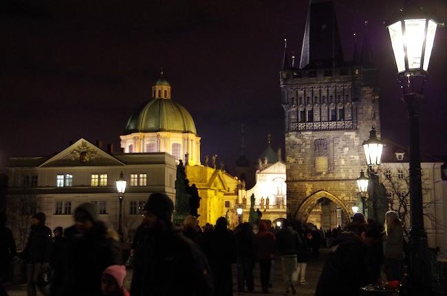 夜のプラハ9