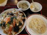 西新橋 慶珍楼 焼そば+半チャーハン(2012/10/12)