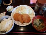 愛宕 でり坊食堂 愛宕店 チキンカツ定食(2012/10/16)