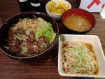 西新橋 肉屋のどんぶりかんじょう 牛塩はらみ丼セット(2012/10/25)