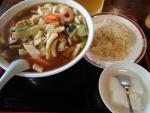 西新橋 慶珍楼 五目湯麺+半チャーハン(2012/10/31)
