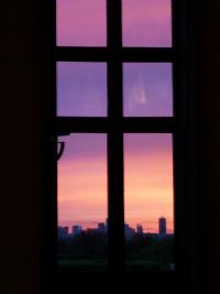 ルーブルからの夕景