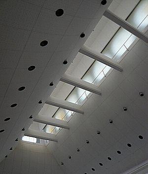 平野政吉美術館の内部(天井)-2