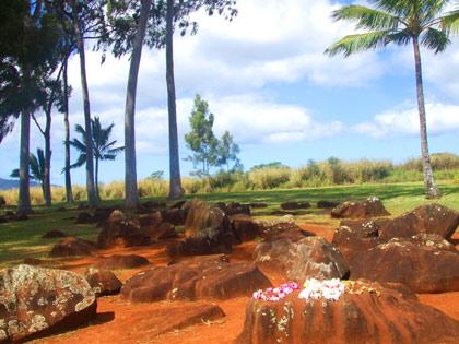 ハワイ パワースポット『クカニロコ (バースストーン)』