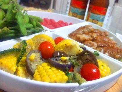 お家ごはん 夏野菜のイタリアンガーリックソテー