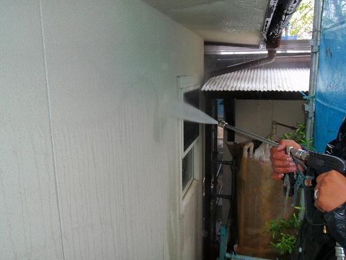 05 外壁(吹付けリシン)高圧洗浄