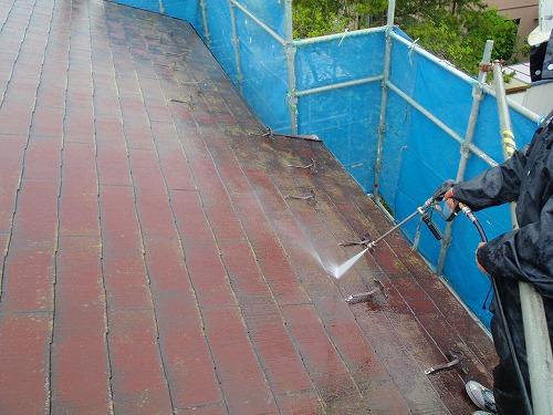 02 屋根高圧洗浄