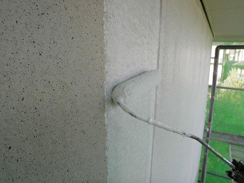 5.外壁 微弾性フィーラー塗布 (下塗り)