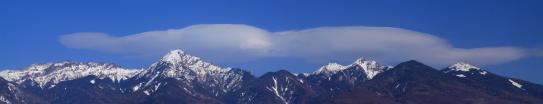 南八ヶ岳と雲