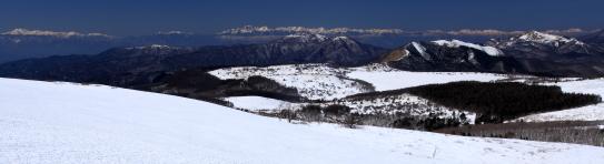 霧ヶ峰と北アルプス