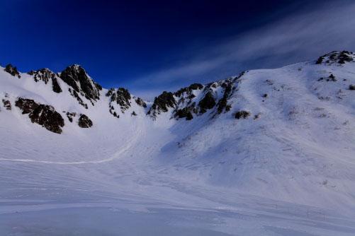 雲の映える宝剣岳