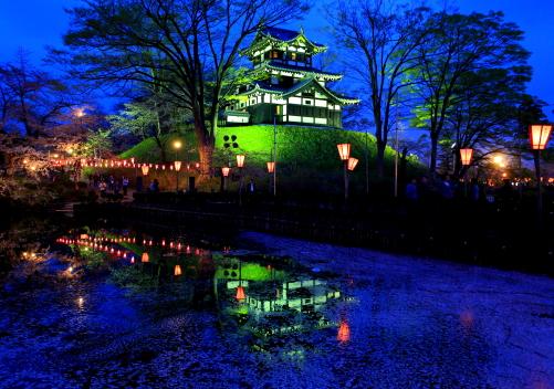 高田城夜景