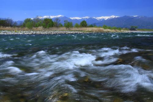 天竜川と西駒ヶ岳