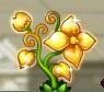 黄金色の花の山