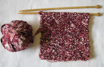 裂き編み 袋編み