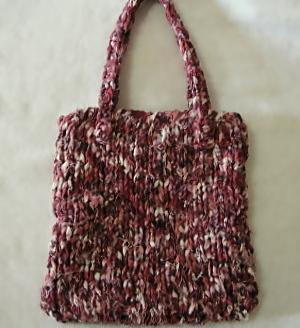 裂き編み ミニバッグ
