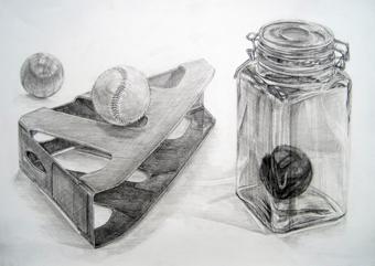 描ふた付きガラス瓶