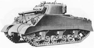 M4シャーマン(105mm)hvssではない