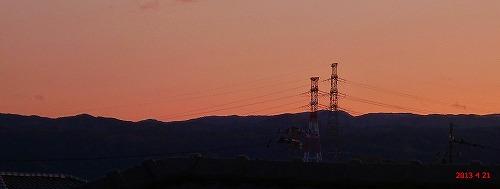 s-夕焼け130421の2