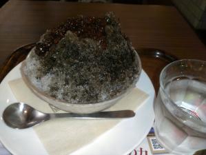 黒焙じ茶のかき氷_photo