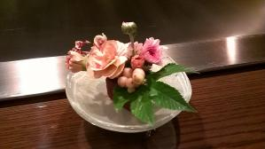 あざみ野うかい亭テーブル花