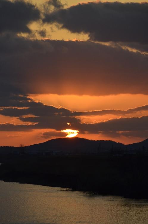 久々の夕陽-3