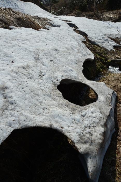 里山の残雪-1