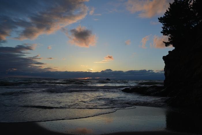 夕陽の海岸-3