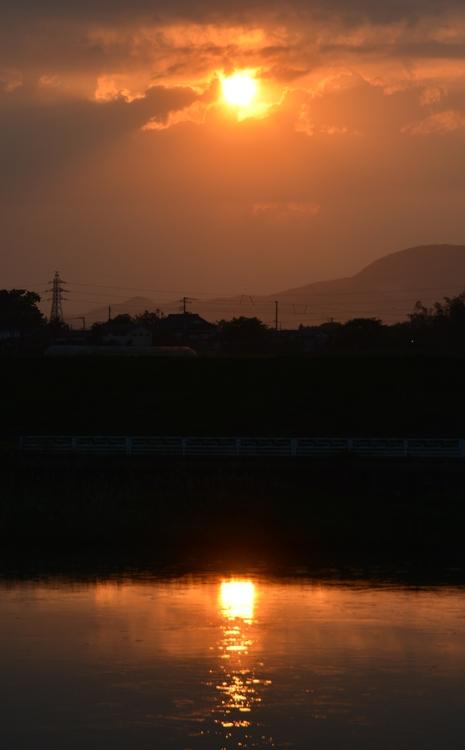 一瞬の夕陽-3