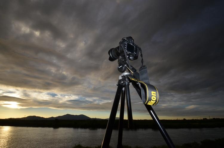 フェーン現象の夕陽-5